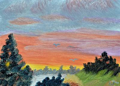 Painting - Vermont Sunset by Warren Thompson