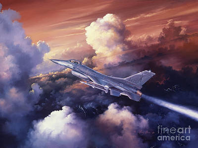 F-16 Painting - Vermont Thunder - The Green Mountain Boys by Randy Green