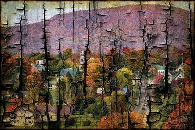 Photograph - Vermont Town--cracked Look by Sherman Perry