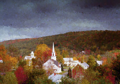 Photograph - Vermont Village Of Barnet In Autumn by Jeff Folger
