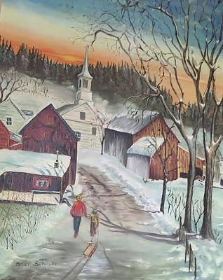 Painting - Vermont Village by Peter Suhocke