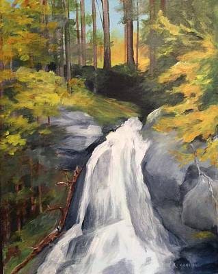 Painting - Vermont Waterfall by Ellen Canfield