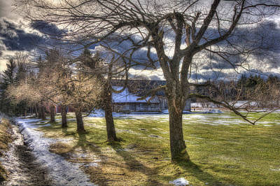 Barns In Snow Photograph - Vermont Winter Barn - Stowe by Joann Vitali