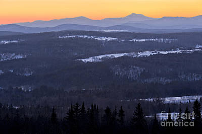 Photograph - Vermont Winter Twilight by Alan L Graham