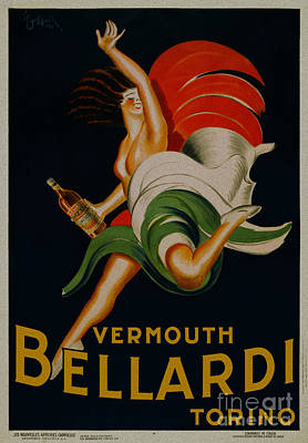 Painting - Vermouth Bellardi Torino Vintage Poster by R Muirhead Art
