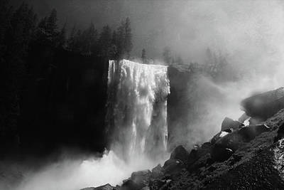 Vernal Fall And Mist Trail Art Print