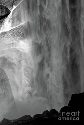 Wine Beer And Alcohol Patents - Vernal Falls BW by Chris Brewington Photography LLC