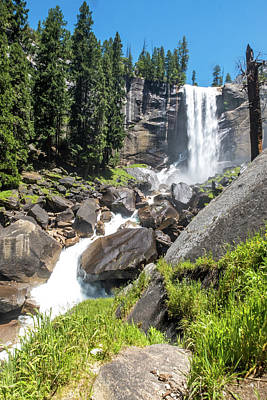Photograph - Vernal Falls- by JD Mims