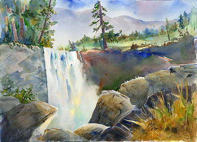 Painting - Vernal Falls by Joan Chlarson