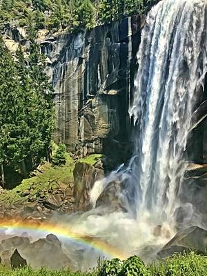 Photograph - Vernal Falls by Lorella Schoales