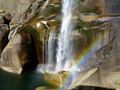 Photograph - Vernal Falls Mist Trail by Amelia Racca