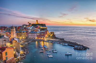 Photograph - Vernazza At Sunset by Jennifer Ludlum