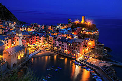 Photograph - Vernazza At Twilight by Andrew Soundarajan