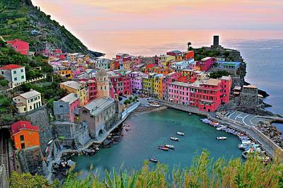 Photograph - Vernazza Awakens by Frozen in Time Fine Art Photography