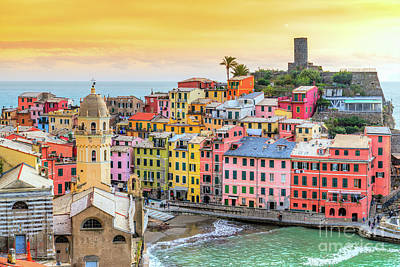 Photograph - Vernazza - Cinque Terre National Park - Liguria - Italy by Luciano Mortula