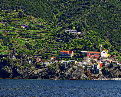 Photograph - Vernazza Coastal View by Anthony Dezenzio