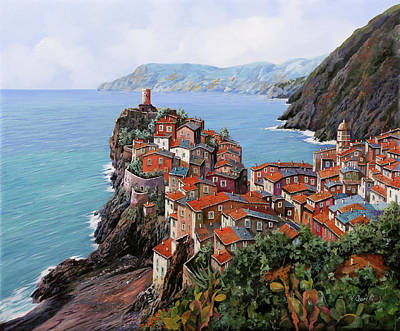 Painting Rights Managed Images - pomeriggio a Bellagio anzi a Vernazza Royalty-Free Image by Guido Borelli