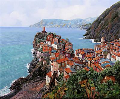 Paintings - pomeriggio a Bellagio anzi a Vernazza by Guido Borelli