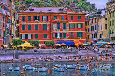 Photograph - Vernazza Harbor  by Allen Beatty