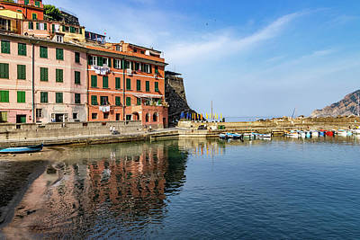 Photograph - Vernazza Harbor View by Carolyn Derstine