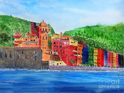 Painting - Vernazza Italy by Anne Sands
