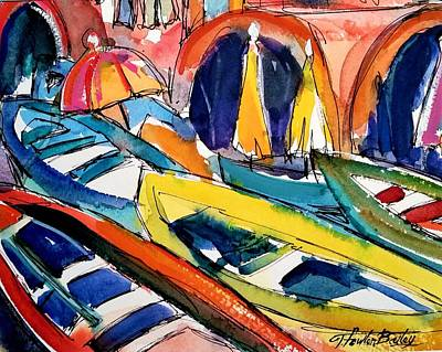Painting - Up Close Skiffs Of Manarola  by Therese Fowler-Bailey