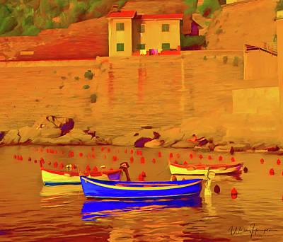 Painting - Vernazza  Italy by Wally Hampton
