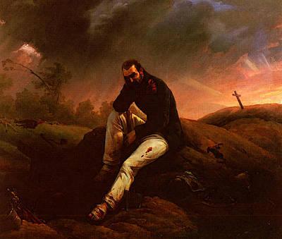 Dernier Digital Art - Vernet Horace Le Dernier Grenadier De Waterloo by PixBreak Art