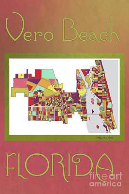 Digital Art - Vero Beach Map3 by Megan Dirsa-DuBois