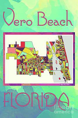 Digital Art - Vero Beach Map4 by Megan Dirsa-DuBois