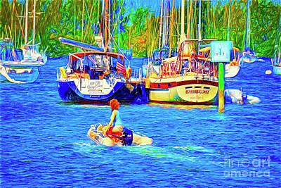 Vero Beach Marina Art Print by Charles Haaland