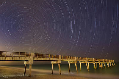 Photograph - Vero Beach Pier Starlight by Fran Gallogly