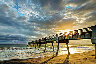 Vero Beach Pier Summertime Art Print