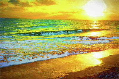 Vero Beach Sunrise Special Art Print by Charles Haaland
