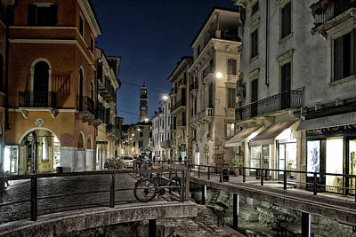 After Midnight Photograph - Verona After Midnight by Joachim G Pinkawa