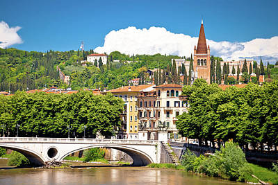 Photograph - Verona Bridge And Adige River View by Brch Photography