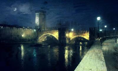 Photograph - Verona, Castelvecchio by Vittorio Chiampan