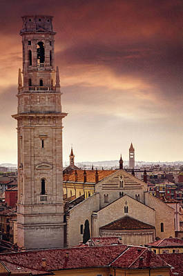 Photograph - Verona Cathedral From St Peter's Hill  by Carol Japp