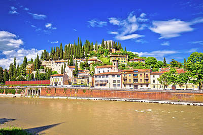 Photograph - Verona Cityscape From Adige River Bridge View by Brch Photography