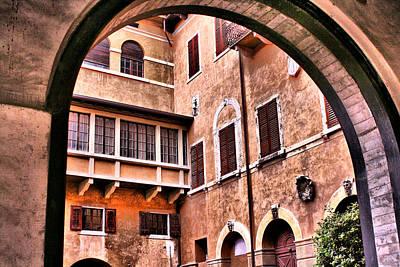 Photograph - Verona Courtyard by Greg Sharpe