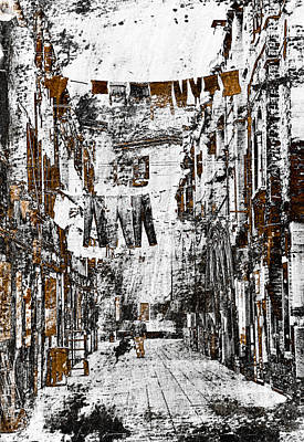 Pencil Drawing Mixed Media - Verona Italy by Frank Tschakert