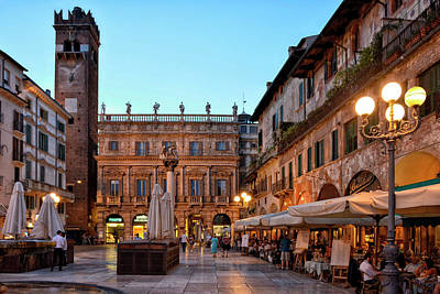 World Heritage Sites Photograph - Verona - Piazza Delle Erbe by Joachim G Pinkawa