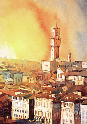 Painting - Florence Sunset II by Ryan Fox