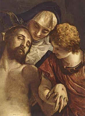 Pieta Digital Art - Veronese Pieta  by Paolo Veronese