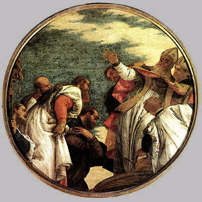 Veronese The People Of Myra Welcoming St Nicholas Art Print