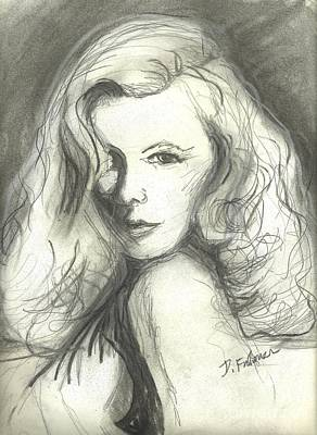 Mixed Media - Veronica Lake by Denise Fulmer