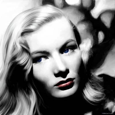 Veronica Lake Portrait #1 Art Print by Gabriel T Toro