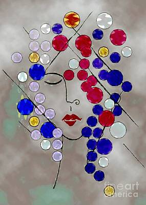 Colorful Abstract Drawing - Veronica by Mimo Krouzian