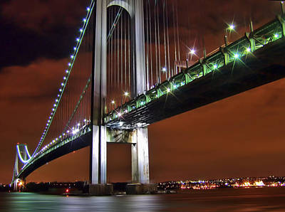Photograph - Verrazano Bridge by Evelina Kremsdorf