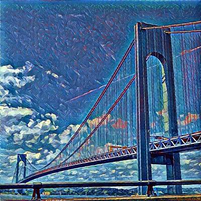 Photograph - Verrazano Bridge by Rita Tortorelli